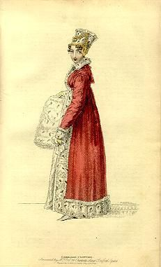 A strikingly elegant 1820s Pelisse Coat. women wore these in the 19th century like a coat we would wear now a days, in the winter , over just about anything