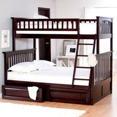 A wonderful solution for a younger and older kid sharing a room together.