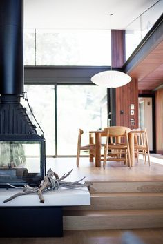 With Our Two Young Children. It's Everything We Could Have Dreamed Of _ Fireplace Cheminees Philippe Radiante 846 3V Australian Architecture, Australian Homes, Contemporary Architecture, Architecture Design, Sage House, Double Sided Fireplace, Victorian Design, Beautiful Homes, Phillipe