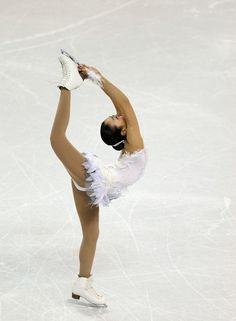 LONDON, ON - MARCH 16:  Mao Asada of Japan competes in the Ladies Free Skating during the 2013 ISU World Figure Skating Championships at Budweiser Gardens on March 16, 2013 in London, Canada.