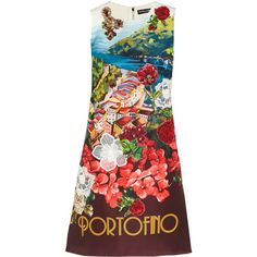 Dolce & Gabbana Portofino embellished printed silk mini dress featuring polyvore women's fashion clothing dresses red red silk dress short red dress flower print dress floral dress embroidered shift dress