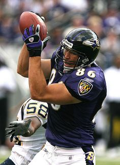 Todd Heap, another great former Raven.  He's a great player on the field, and a stand-up guy off of it.  The Ravens need to find a way to get him back in to the organization after his playing days are over.