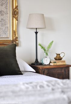 Bedside Table Vignette | The Painted Hive