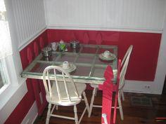 Window seat at The Tilted Teacup Tea Room