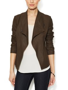 Suede Draped Jacket from Designer Suits & Separates Feat. Giorgio Armani on Gilt
