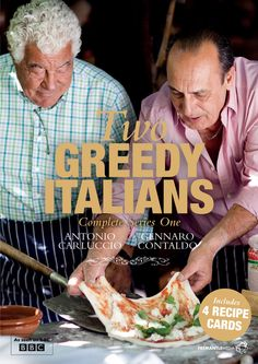 Books Please: I love Italian food, so Two Greedy Italians by Antonio Carluccio and Gennaro Contaldo looks like a book that I would love to have! Italian Chef, Italian Cooking, Italian Recipes, Italian Cookbook, Italian Foods, Jamie Oliver, Gennaro Contaldo, I Love Pizza, Tv Chefs