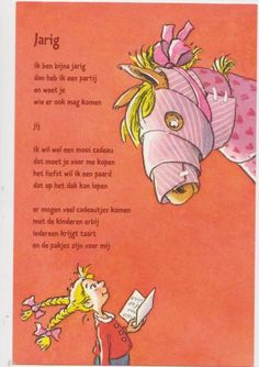 Uit: ik zie lichtjes in je ogen Birthday Wishes, Happy Birthday, Poetry Journal, Poetry For Kids, Special Words, Pirate Theme, Get The Party Started, Drawing For Kids, Pre School