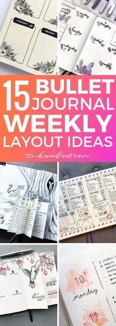 Looking for great bullet journal weekly spread ideas? Click through to find 15 absolutely gorgeous bullet journal layout ideas to copy for your own weekly spread! ⎜bullet journal ideas, bullet journal ideas layout, bullet journal ideas inspiration, bullet journal weekly spread, bullet journal weekly layout #bujo #bulletjournal #weeklyspread #bujoinspiration