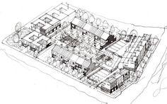 Kingsmead, Milton Keynes / white architecture Image Chart, Milton Keynes, Louvre, Architecture, City, Building, Projects, Travel, Arquitetura