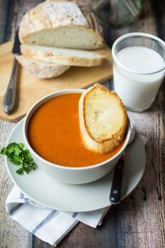 Let your blender do the work making this bistro-style Blistered Red Pepper and Sun Dried Tomato Soup!