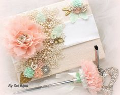 mint green and coral wedding theme - Google Search