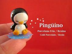 Pingüino en Porcelana Fria / Resina - Cold Porcelain / Resin - YouTube