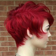Red Short Haircut - Girl Hairstyle 2016