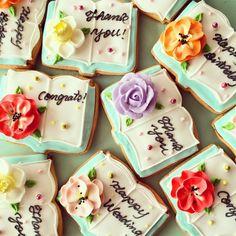 beautiful book cookies