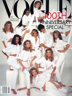 Christy, Cindy, Claudia, Elaine, Karen, Linda, Naomi, Niki, Tatjana, and Yasmeen.
