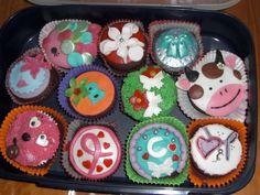 cupcakes, gemaakt met cindy en britt
