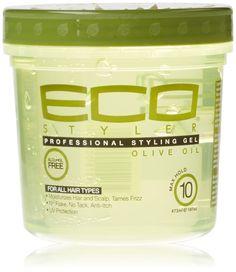 Eco Styler Gel coiffant à base d'huile d'olive - Pour tous types de cheveux - Sans alcool - 354 ml: Amazon.fr: Beauté et Parfum