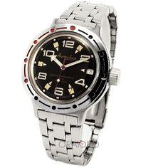 Ceasul VOSTOK AMFIBIA ARMY face parte din gama AMFIBIA, ceasuri pentru scufundari profesioniste, cu rezistenta la apa de 200M (20 ATM