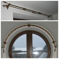 Brass curtain rods Mosiężne karnisze