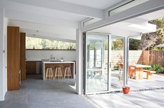 Truly Open Eichler House | Remodeling | Klopf Architecture, Palo Alto, CA, USA, Single Family, Renovation/Remodel, Architectural Detail, Bath, Bedroom, Dining Room, Entryway, Exteriors, Kitchen, Living Room, Outdoor, Patio, Modern, Residential Projects #remodelingarchitecture