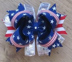 4th of July hair bow idea