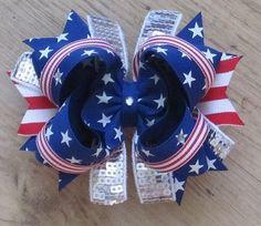 4th of July hair bow idea
