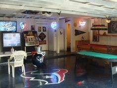 Houston Texans Garage Man Cave Pinterest Texans