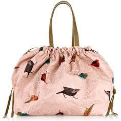 Marc by Marc Jacobs Jumbled Birds tote (250 BRL) ❤ liked on Polyvore featuring bags, handbags, tote bags, purses, bolsas, accessories, women, handbag purse, man bag and pale pink purse