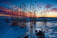 Balatonkenese Big Lake, Blue Hour, Central Europe, How Beautiful, Hungary, Countryside, Waves, City, Painting