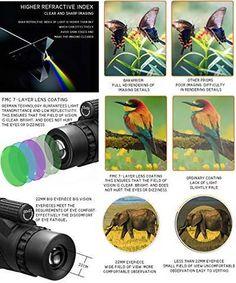 1000X Zoom Waterproof Monocular Mobile Telescope – MDRNmint Portable Air Pump, Wilderness Explorer, Taking Pictures, Dance Pictures, Electronic Engineering, Crisp Image, Bird Watching, Stargazing, Night Vision