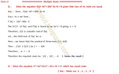 Applied Mathematics: Multiple  Roots  2