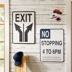 Metal Street Signs from Pottery Barn Teen.