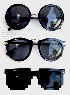 Imagen de fashion, sunglasses, and black
