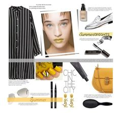 """Mustard with Black"" by lifeisworthlivingagain ❤ liked on Polyvore featuring Bobbi Brown Cosmetics, Ray-Ban, Chicnova Fashion, Chloé, Yves Saint Laurent, Bite, Robert Clergerie and H&M"