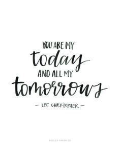 You Are My Today And All My Tomorrows | ROOLEE