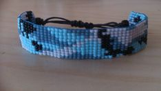 """Loom beaded bracelet """"camouflage"""" """"army"""" / Beaded bracelet with waxed cord Bead Embroidery Jewelry, Beaded Embroidery, Bead Loom Bracelets, Photo Wall Collage, Bead Jewellery, Loom Beading, Seed Beads, Camouflage, Cord"""
