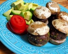 Baked Mushroom-Bun Sliders #Paleo #Recipe #grainfree #glutenfree