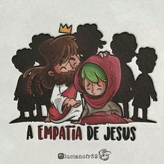 Jesus Cartoon, Inspirational Phrases, Holy Mary, Believe In God, Jesus Loves Me, My King, Akira, Salvador, Cartoon Characters