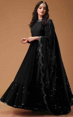 FABRIC BLACK JORGET ,PRICES 4500/ Rs ,WORLDWIDE SHIPPING AVAILABLE 20 DAYS DOOR DELIVERY, Gown Party Wear, Party Wear Indian Dresses, Designer Party Wear Dresses, Pakistani Dresses Casual, Indian Gowns Dresses, Indian Fashion Dresses, Pakistani Dress Design, Indian Wedding Outfits, Indian Designer Outfits