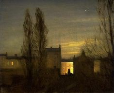 George Clausen (1852-1944, British) - In the Small Hours, 1911 - Oil on canvas,63.4 x 76.2mm - Auckland Art Gallery, Auckland