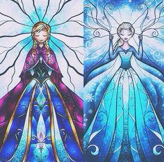 The queen & princess