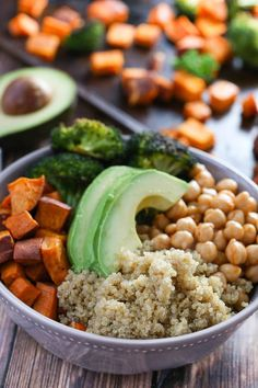 Quinoa Power Bowls/ Greens and Chocolate