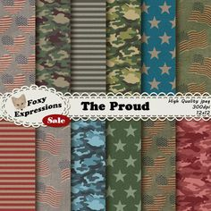 #New Foxy Item! See more at www.FoxyExpressions.com The proud digital paper pack…