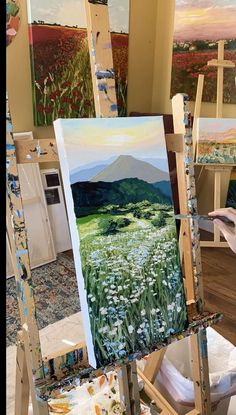 Canvas Painting Tutorials, Diy Canvas Art, Canvas Painting Nature, Small Canvas Art, Light Painting, Large Painting, Aesthetic Painting, Aesthetic Drawing, Sky Art