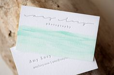 Love the Watercolor Amy Lucy Photograhy Brand Identity by Jane Johnson Design | http://janejohnsondesign.com