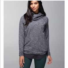 Lululemon Healthy Heart Pullover in Coco Pique sz6 Worn just once. No flaws. Washed in cold and hang dried. lululemon athletica Tops