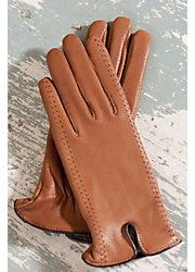 Women's Sequoia Deerskin Leather Gloves with Cashmere Lining  Style #72156 (Available in 3 colors)