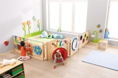 HABA Children's Room Partition - Combination 8 | Room Dividers | Play Panels