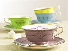 bone china teacup and saucer by english bone china by sara smith | notonthehighstreet.com