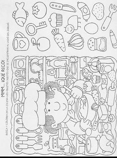 Preschool Writing, Kindergarten Math Worksheets, Fun Worksheets, School Worksheets, Preschool Printables, Autumn Activities, Activities For Kids, Hidden Pictures Printables, Visual Perceptual Activities